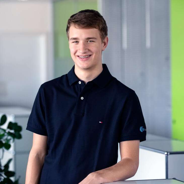 Cedric Kühne, Auszubildender bei Beltronic